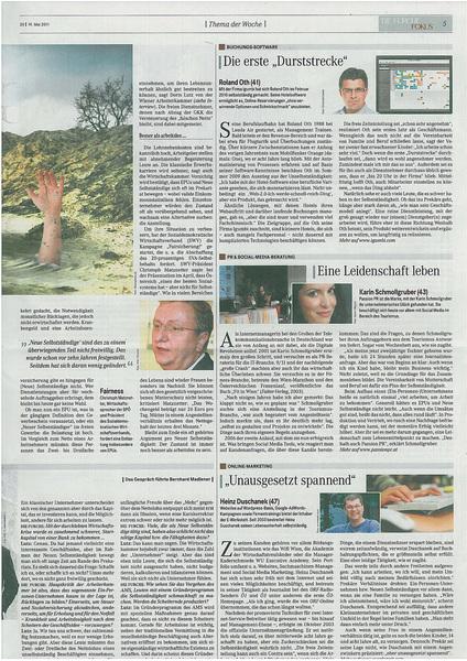 die Furche Artikel 19.5.2011: Ich AG - von Bernhard Madlener