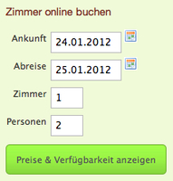 igumbi Online Buchungstool /Hotel IBE/ online Buchungssystem Einstieg in grün #buchungssystem