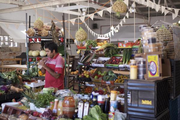 Biscuit Mill Markt in Woodstock, Kapstadt
