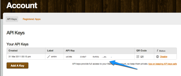 Mailchimp API Key #crm #newsletter #mailchimp