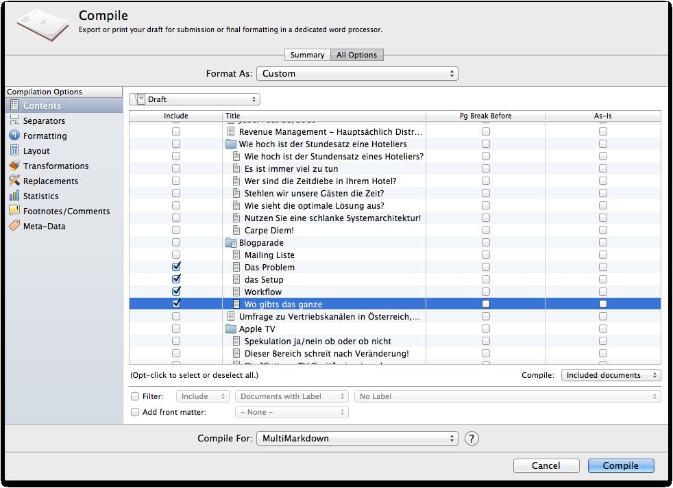 Scrivener: compile theText #newsletter