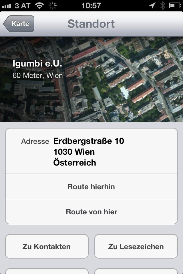 iOS6 Apple Karten Ort finden und Teilen