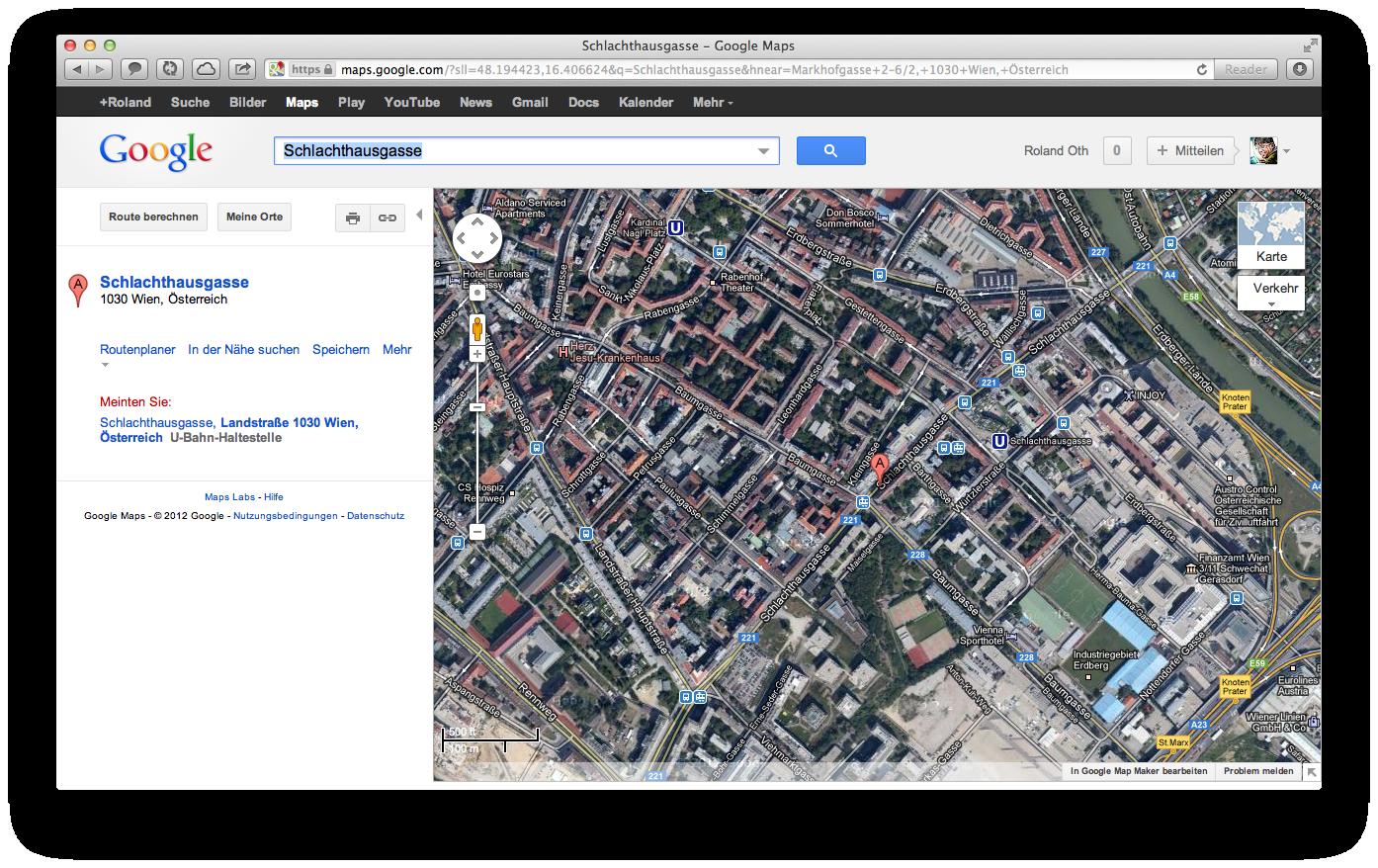 Apple Maps generierter URL nur mit Strassennamen wird zu Google redirected