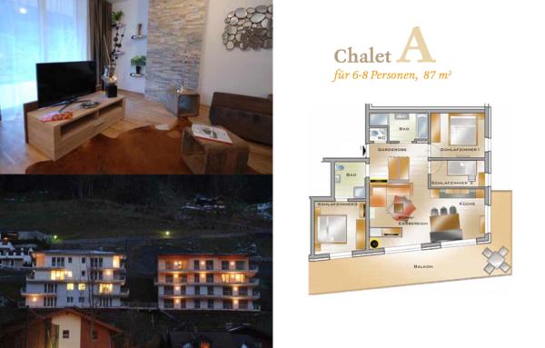 Bilder und Grundriss vom Sonnseit Chalet - Großarl - igumbi Kunde