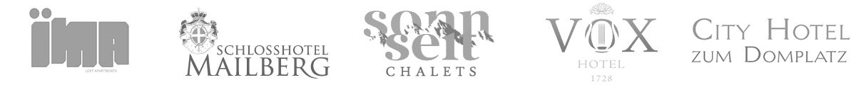 Logos ausgewählter igumbi Kunden