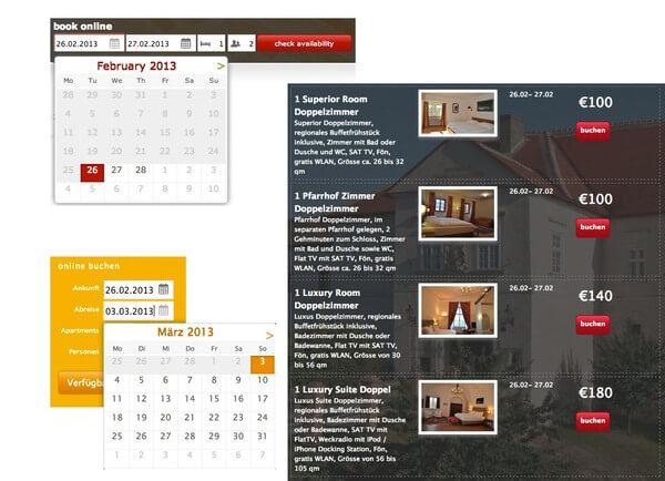 Das Online Buchungstool. Provisionsfreie Reservierungen über Ihre Hotel-Website. Das Buchungstool lässt sich an Ihre Website (Farben und Layout) anpassen. #online #buchungssystem #hotel #website