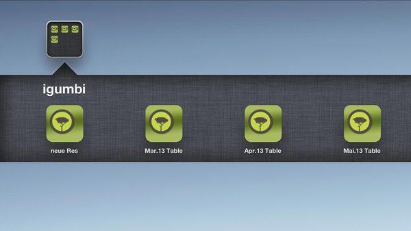 igumbi Belegungsplan schnell erreichen am iPad Homescreen hotelsoftware ipad homescreen