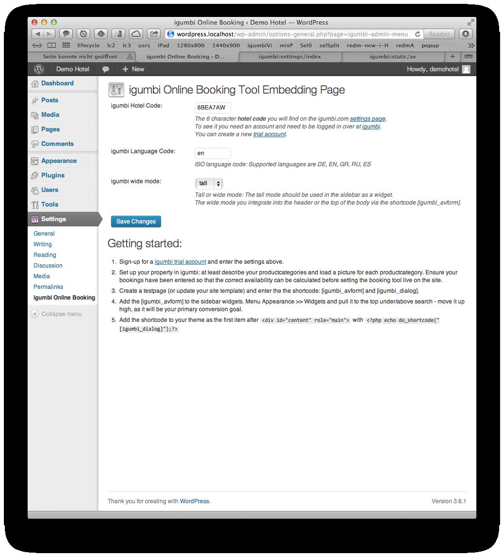 igumbi WordPress Hotel Buchungssystem Plugin
