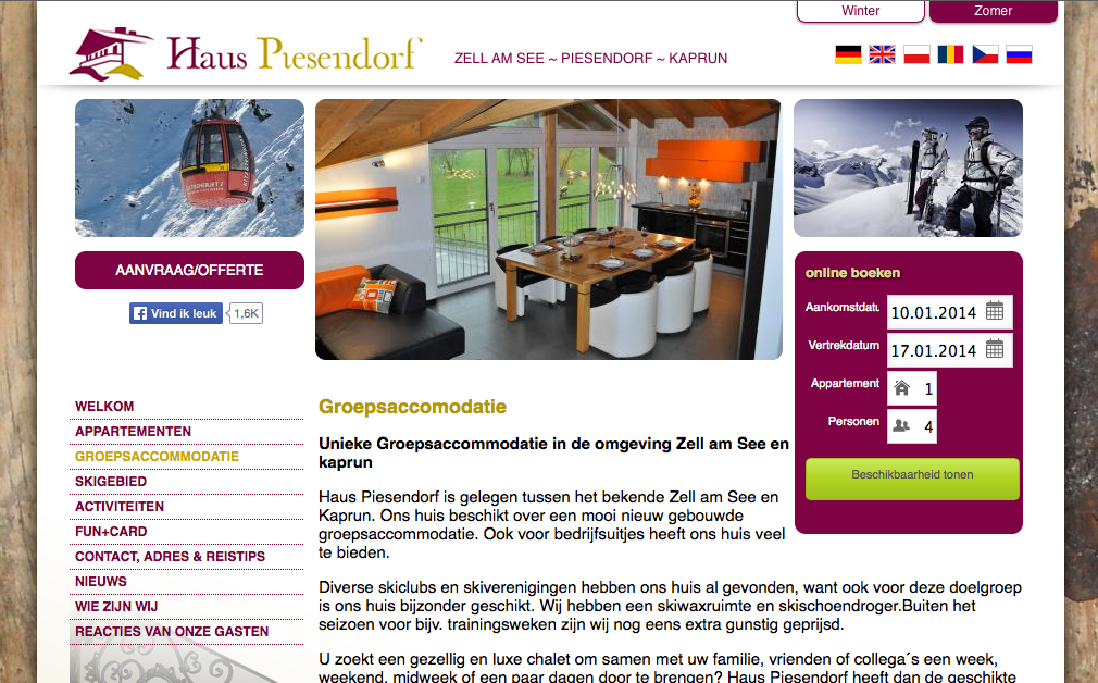 mehr buchungstool sprachen holl ndisch polnisch und tschechisch. Black Bedroom Furniture Sets. Home Design Ideas