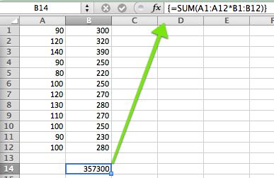 Tastenkombination für Excel Matrixformeln / Array Formeln im Mac OSX Excel