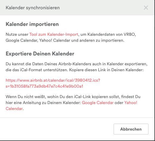 """Tool zum Kalender Import"" klicken."