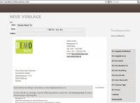 Die Textbausteine in die igumbi E-Mail Vorlage reinziehen.