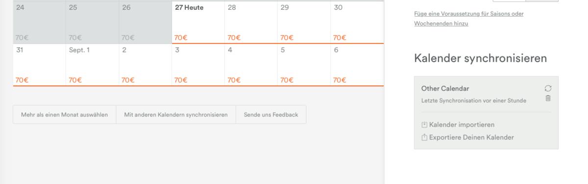 In Airbnb den Kalender mit den Reservierungen exportieren um eine Verknüpfung mit der igumbi Hotelsoftware herstellen